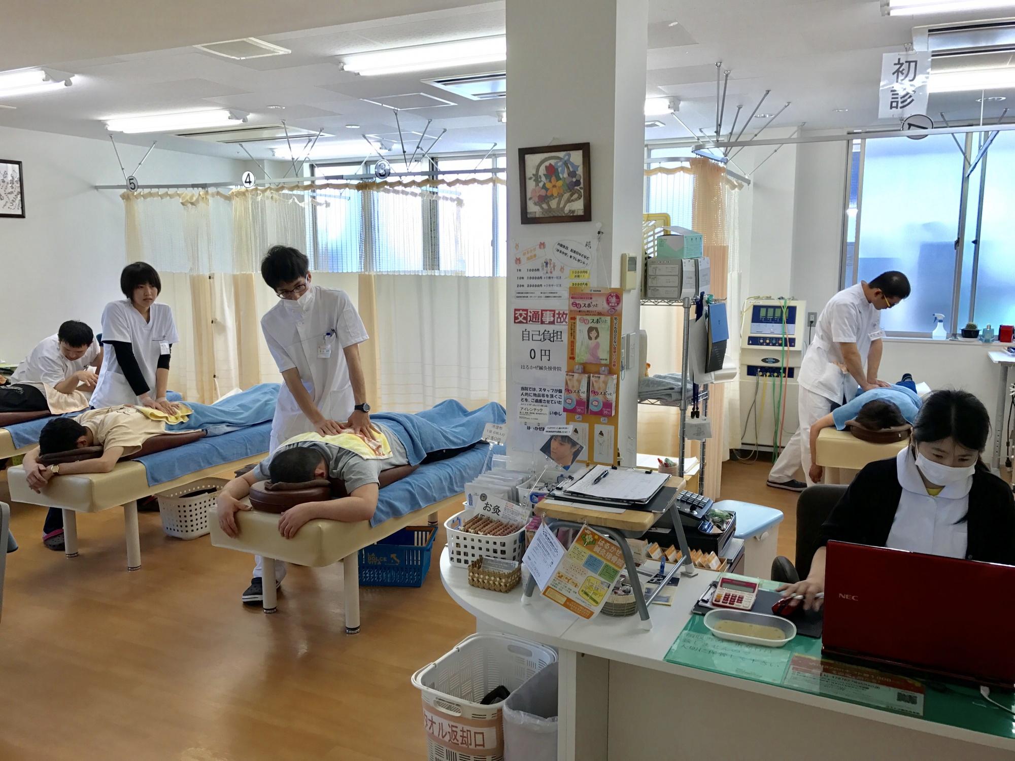 はるかぜ鍼灸接骨院院内風景